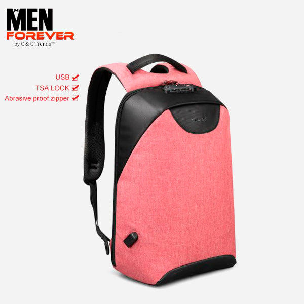 City Anti theft USB Charging Backpack 29a