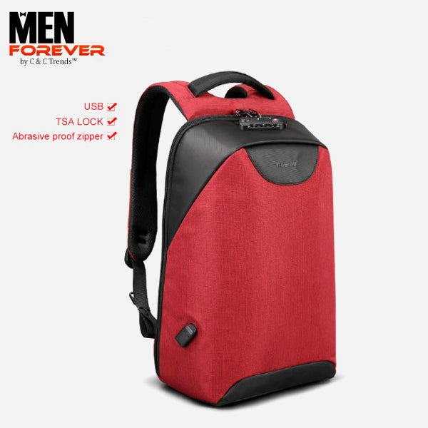 City Anti theft USB Charging Backpack 30a