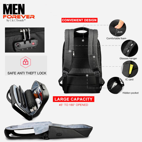 City Anti theft USB Charging Backpack 31a