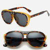 Double-bridge Clip-On Aviator Sunglasses