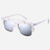 Double-bridge Vintage Square Sunglasses for Men
