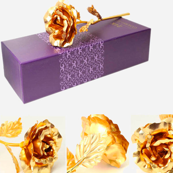 Gold Plated Rose with Acrylic Love Holder