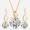Luxury Heart Crystal Jewelry Set