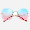 Hexagon Metal Frame Sunglasses