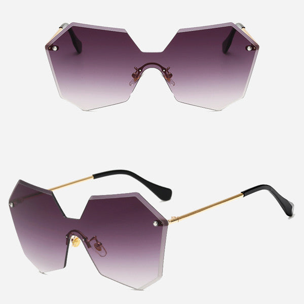 Hexagon Rimless Sunglasses