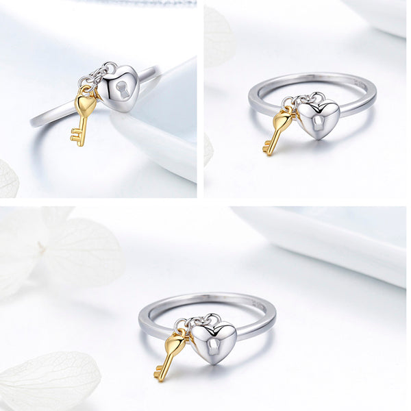 Key of the Heart Romantic Ring