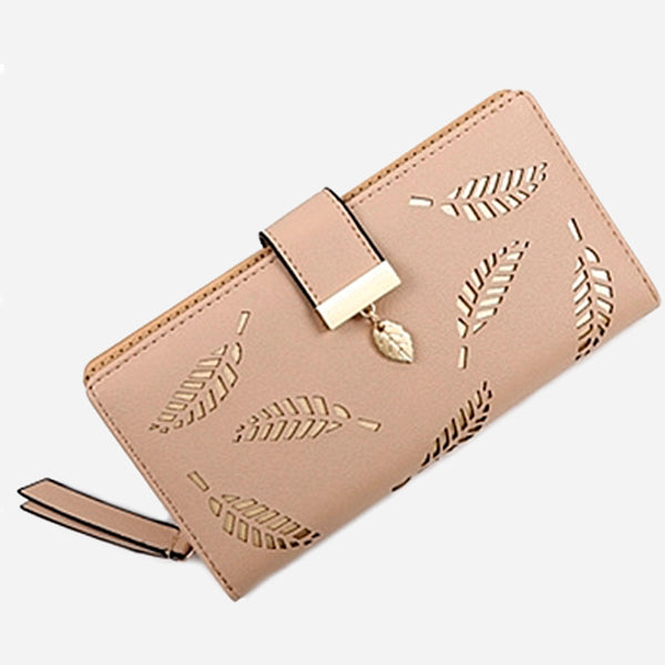 Gold Leaves Long Wallet