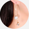 Long Drop Crystal Wire Earrings