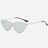 Retro Cat Eye Mirrored Sunglasses