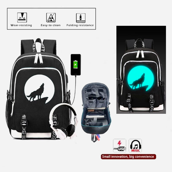 Anime Luminous Backpack with Ext. USB Charging