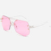 Oversize Rimless Sunglasses