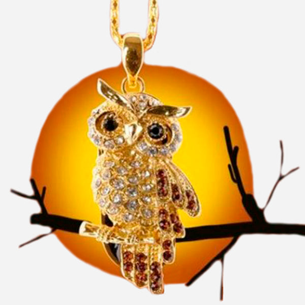 Lovely Crystal Owl  Usb Flash Drive 2.0