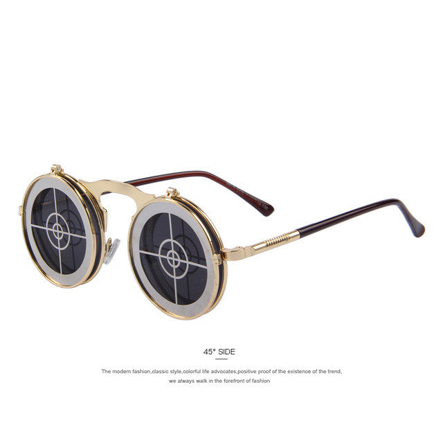 Gothic Vintage Clamshell Sunglasses