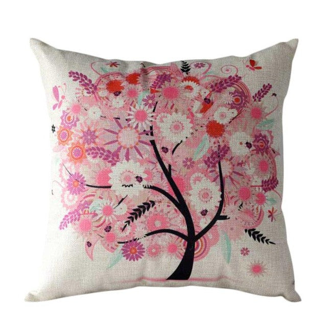 New Flower Tree Pillow Case Sofa