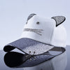 Cute Cat Snapback Cap for Girls