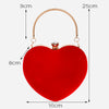 Red Heart Shaped Chain Shoulder Purse