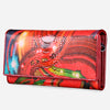 Flower Vintage Red Long Wallet