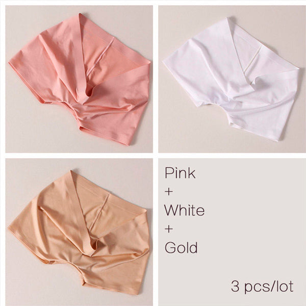 Seamless Solid Ice Silk Boyshorts (3 pcs)
