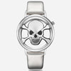 Casual Quartz Watch with Skull Fashion Design