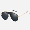 Half Frame Star Aviator Sunglasses