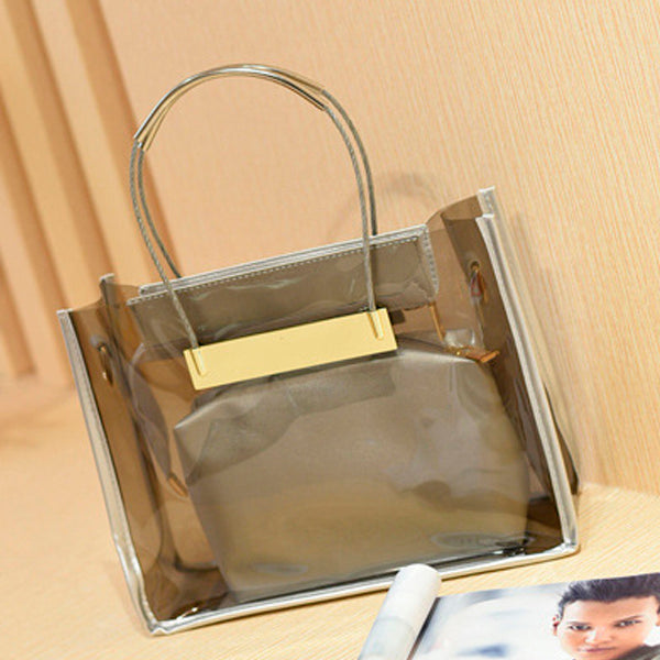 Transparent Candy Color Chain Bag