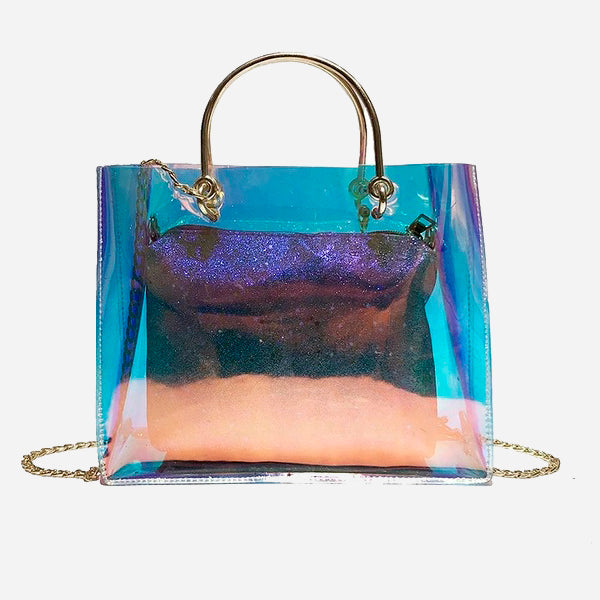 Cool Chain Transparent Tote Bag