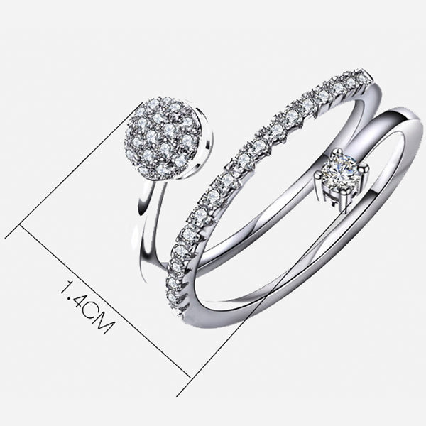 Twisted Rolling Romantic Ring