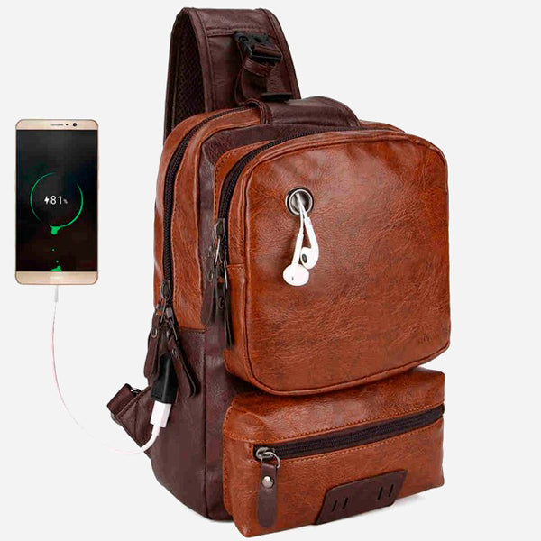 External USB Charge Casual Messenger Bag