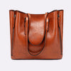 Wax Oil Skin Casual Shell Big Bag 1