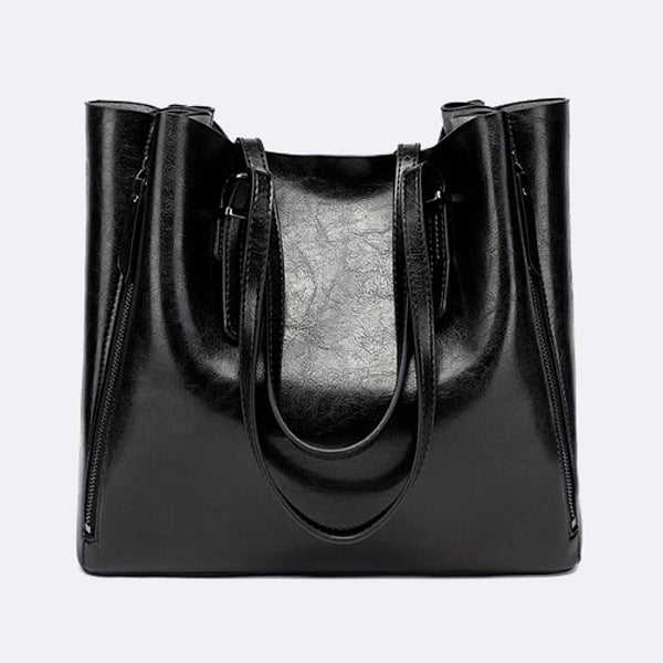 Wax Oil Skin Casual Shell Big Bag 2