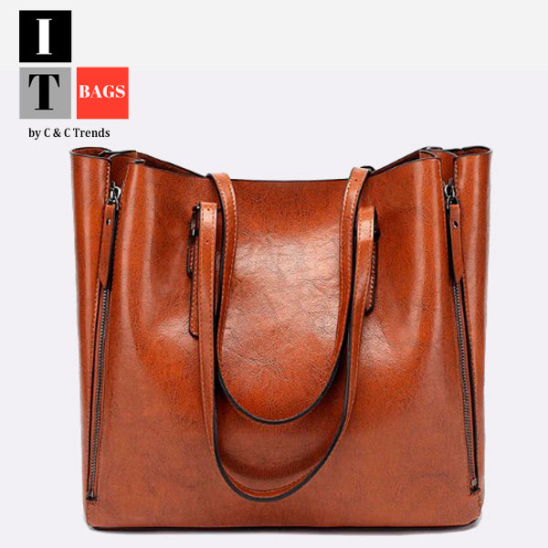 Wax Oil Skin Casual Shell Big Bag 7