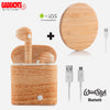 Wood Style Wireless Bluetooth Earbuds