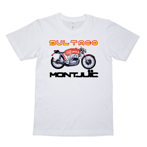 Bultaco Montjuic Road Racer T Shirt | Vox Throttle