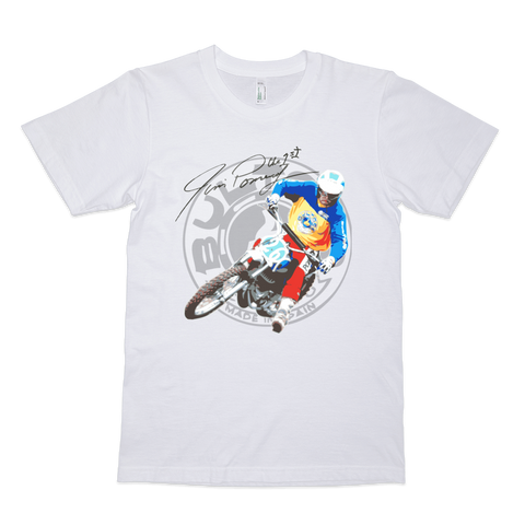 Bultaco Jim Pomeroy Tribute T Shirt | Vox Throttle