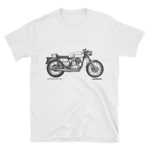 Ducati 450 Single - Silver Shotgun T Shirt | Vox Throttle