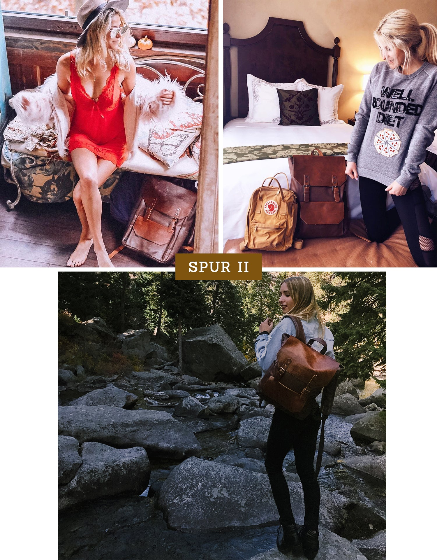Spur II Vintage Leather Backpack Lookbook