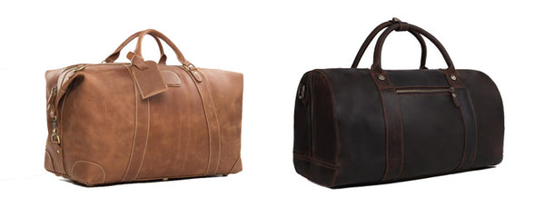 Mustang Leather Duffle Bag and Caravan Leather Duffle Bag
