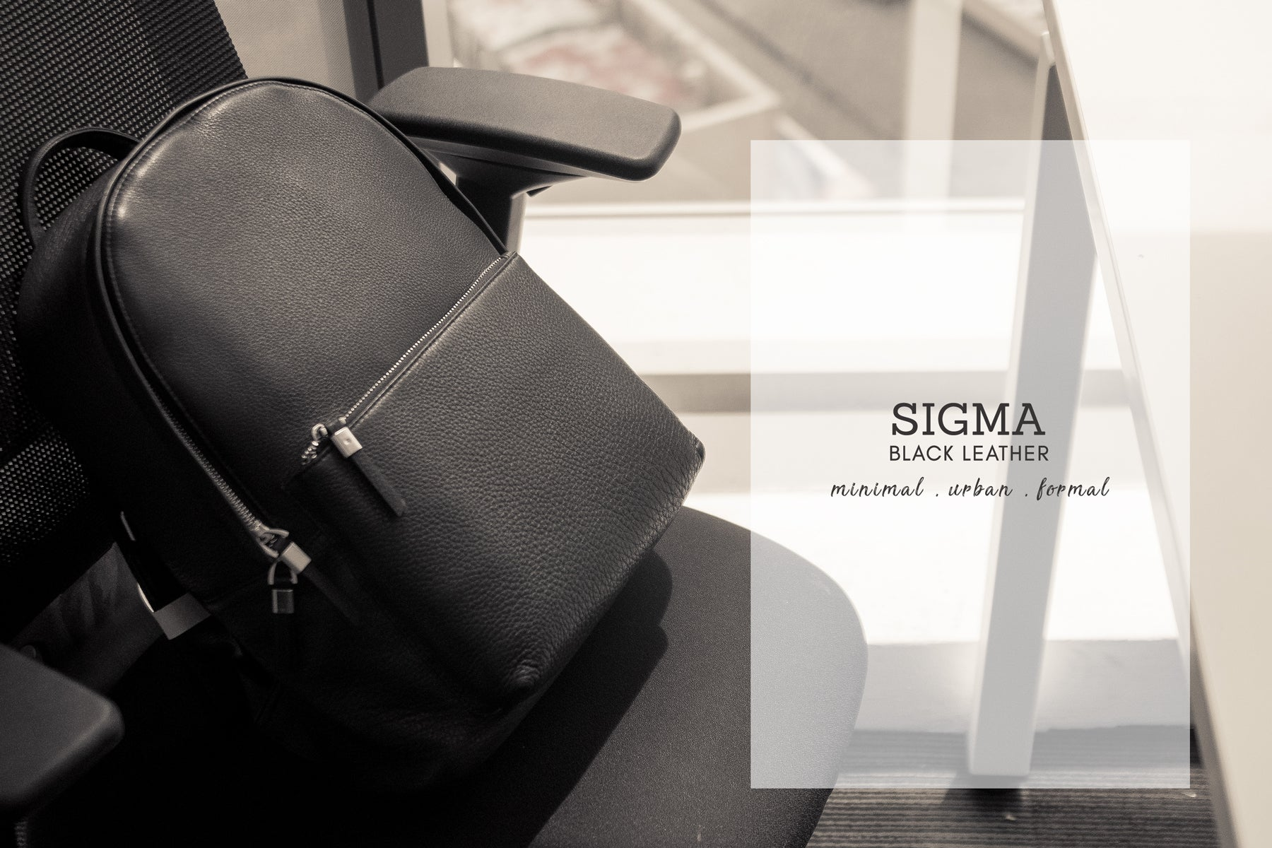 Sigma Leather Laptop Backpack