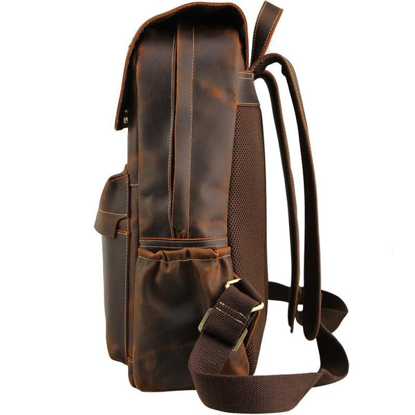Crazy Horse Leather Backpack II-YONDER BAGS
