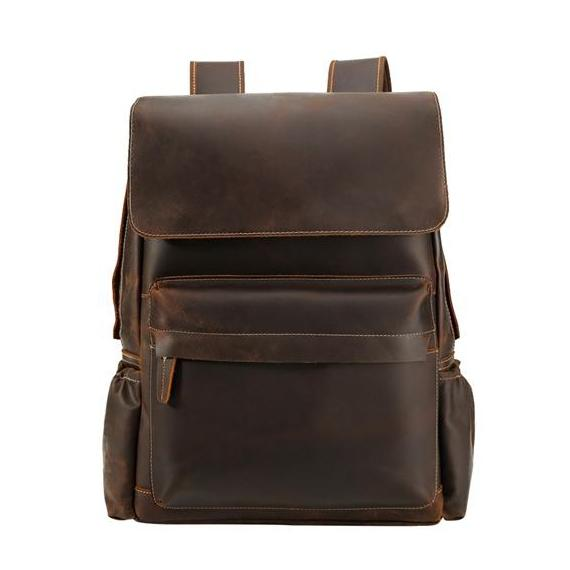 Crazy Horse Leather Backpack II - YONDER BAGS