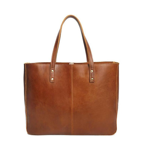 Crazy Horse Leather Tote Bag-YONDER BAGS