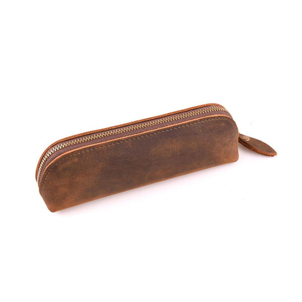 Crazy Horse Leather Vintage Stationary Pouch