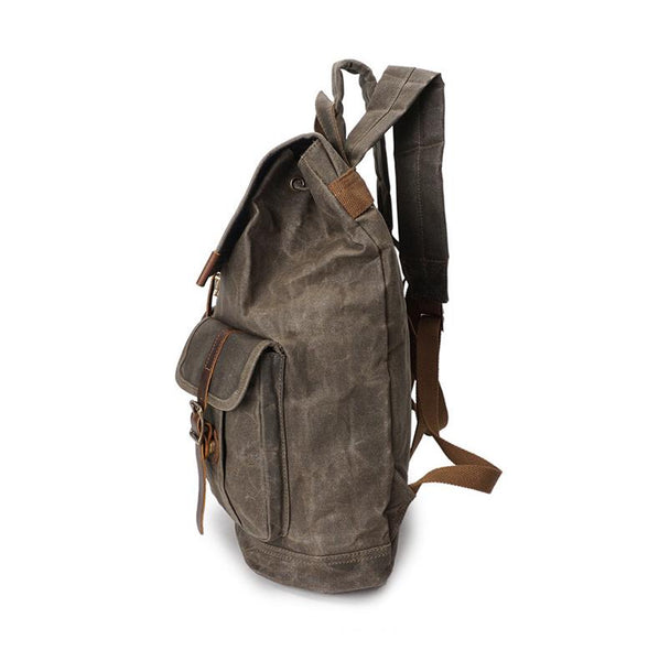 Crossroad Vintage Canvas Backpack-YONDER BAGS