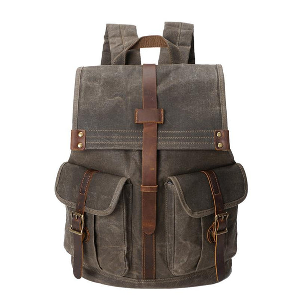 Crossroad Vintage Canvas Backpack - YONDER BAGS