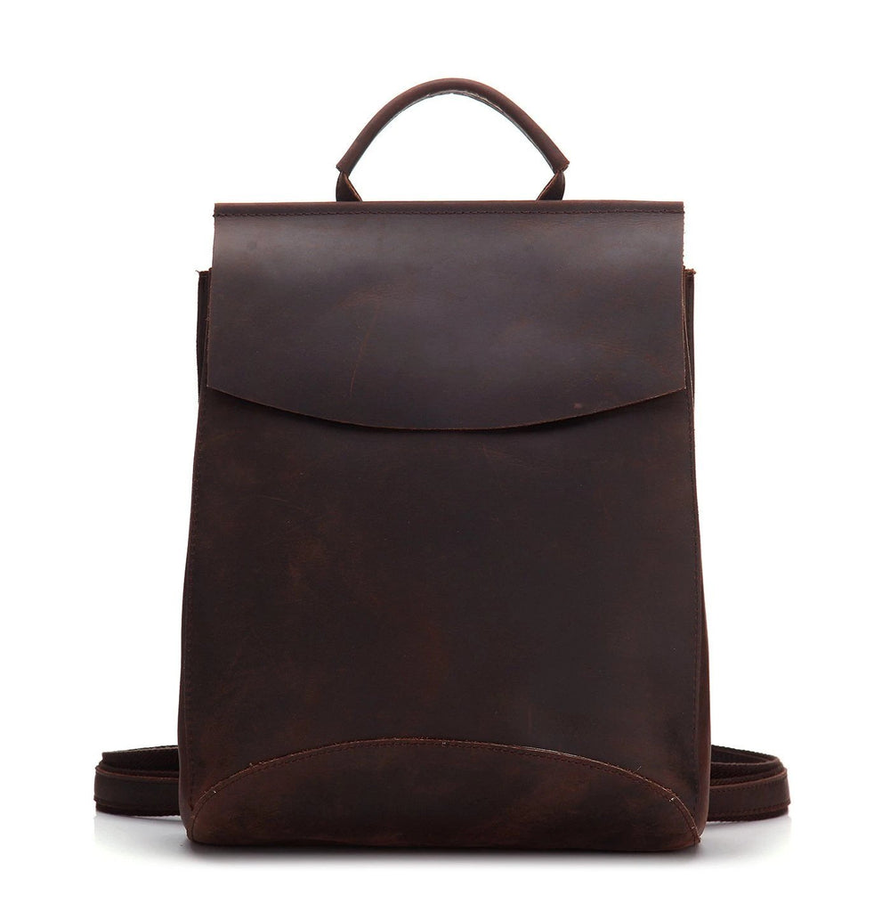 Maverick Crazy Horse Leather Backpack - YONDER BAGS