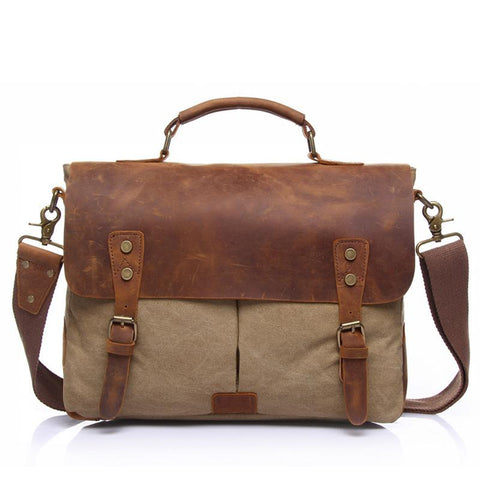 Pony Express Vintage Canvas Messenger Bag-YONDER BAGS