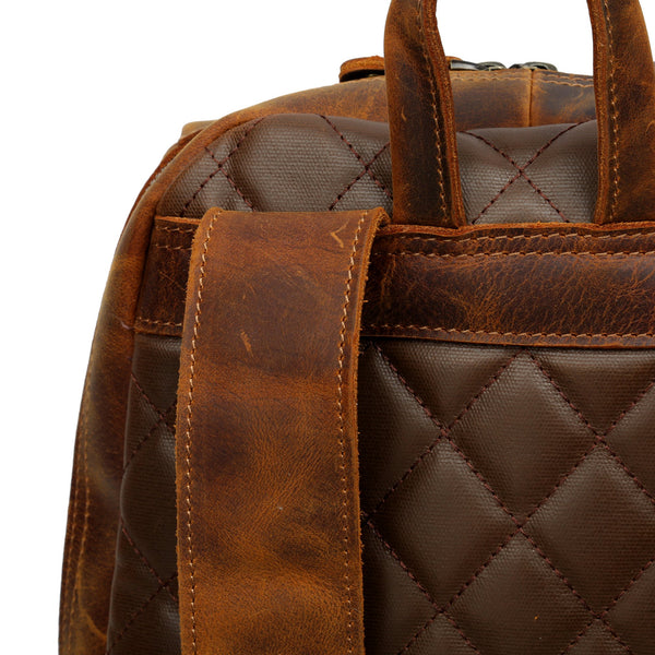 Smith Vintage Leather Backpack - YONDER BAGS