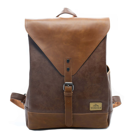 Spark Vintage Leather Backpack-YONDER BAGS