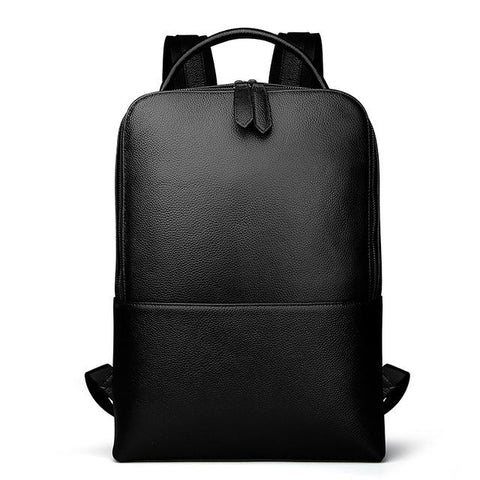 Spry Leather Laptop Backpack black