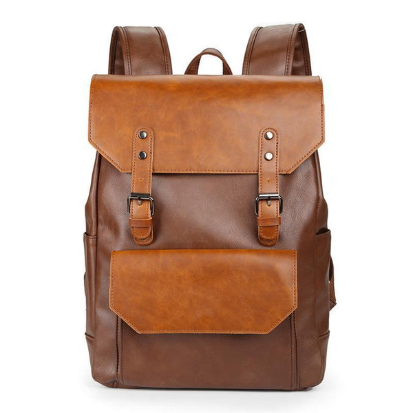 Spur II Vintage Leather Backpack-YONDER BAGS
